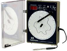 走纸圆图形温度记录仪14007