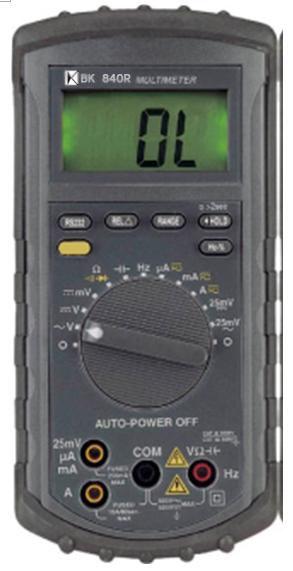 RS232介面2500位自动换档多功能电表BK840R