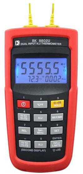 K/J型双组输入温度计BK8802U
