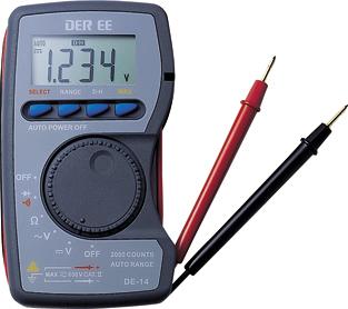 口袋型万用电�lDE-14