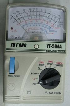 指针式高阻计绝缘测试YF-504A